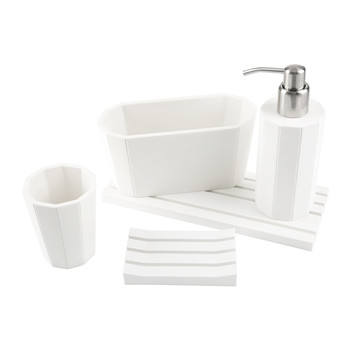 Crate Bathroom Accessory Set - White