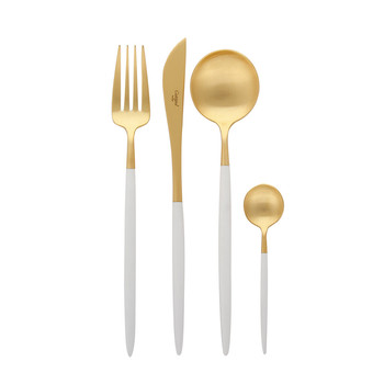 Goa White and Gold Cutlery