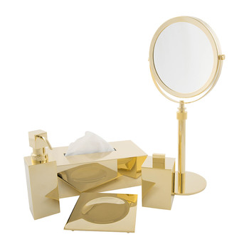 Gold Bathroom Accessory Set