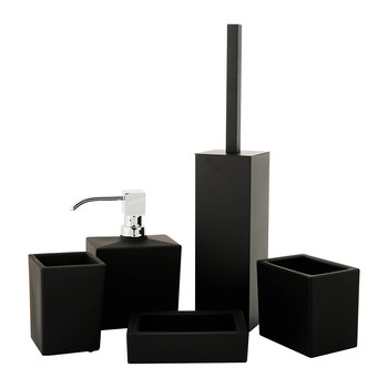 Matt Black Bathroom Accessory Set