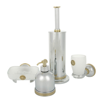 I Classici Bathroom Accessory Set - Chrome & Gold