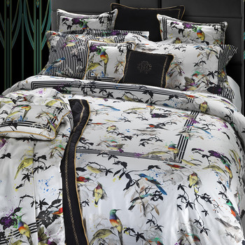 Bird Ramage Bed Linen - White