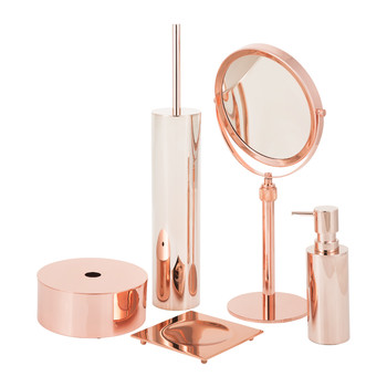Copper Bathroom Accessory Set