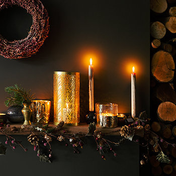 Christmas Candles & Holders