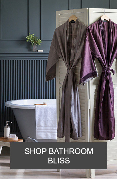 luxury bathroom accessories and towels