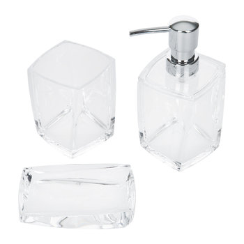 Acrylic Clear Bathroom Accessory Set