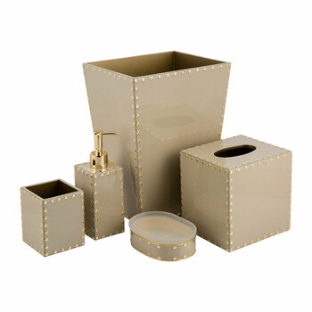 Aero Bathroom Accessory Set - Toast/Gold