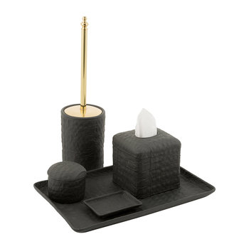 Alligator Black Bathroom Accessory Set