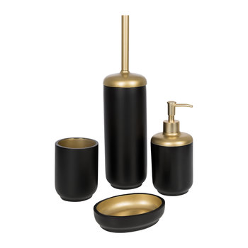 Black & Gold Bathroom Accessory Set