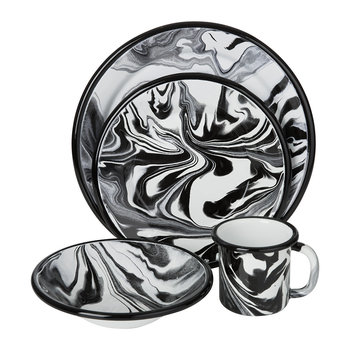 Black Marble Tableware