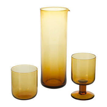 Bloom Amber Glassware
