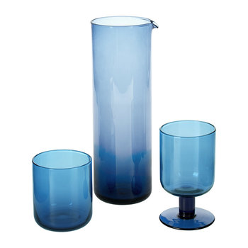 Bloom Blue Glassware