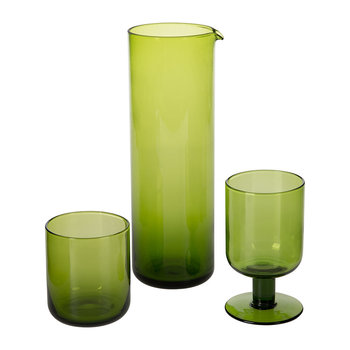 Bloom Green Glassware