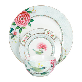 Blushing Birds Tableware - White