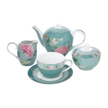 Blushing Birds Tea Set - Blue