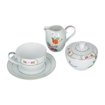 Blushing Birds Tea Set - White