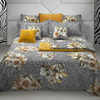 Bouquet Leopard Gold Bed Linen