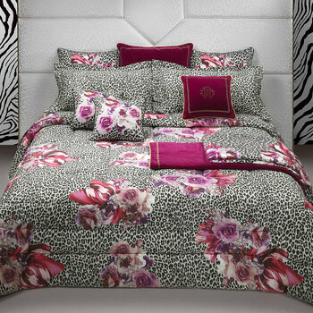 Bouquet Leopard Pink Bed Linen