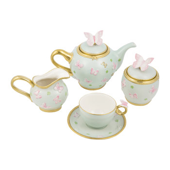 Butterfly Tea Set – Aquamarine