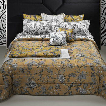 China Birds Silver/Gold Bed Linen
