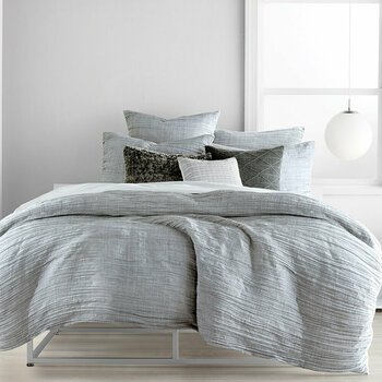City Pleat Grey Bed Linen