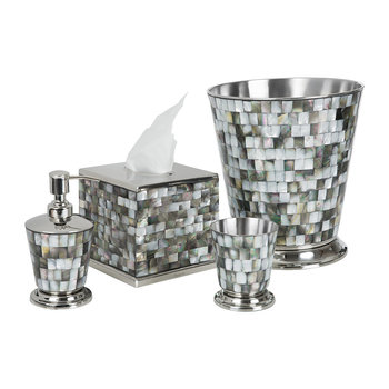 Classic Tahitian Pearl Bathroom Accessory Set