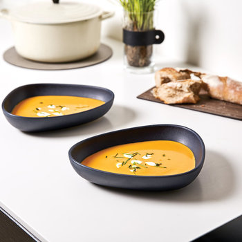 Curve Navy Stoneware Tableware