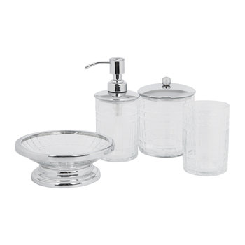 Cut Glass Bathroom Accessory Set