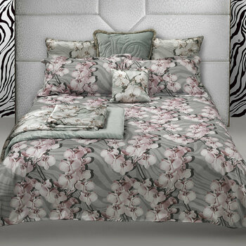 Divine Orchid Gray Bed Linen