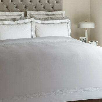Doppio Ajour Grey Bed Linen