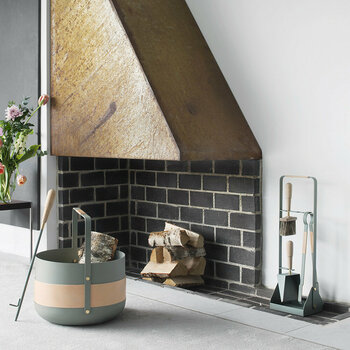 Emma Fireplace Accessories - Lichen