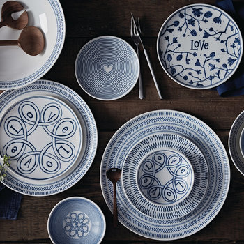 Ellen DeGeneres Love Tableware