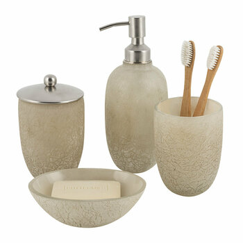 Frosted Glass Bathroom Accessory Set