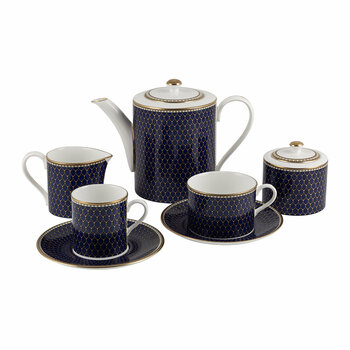Gordon Castle Antler Trellis Tableware - Midnight