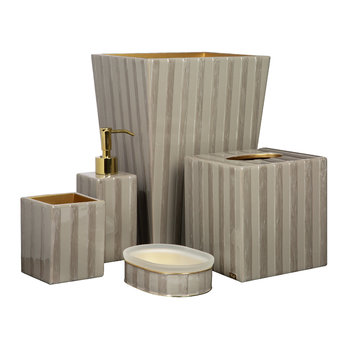 Havana Bathroom Accessory Set - Coffee