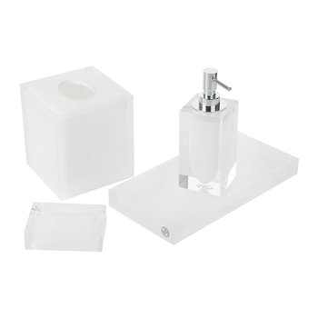 Hollywood White Bathroom Accessory Set