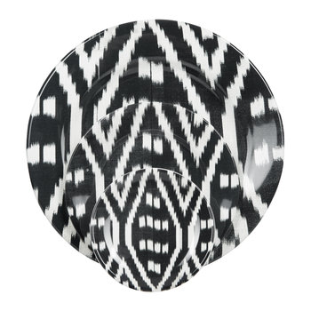 Ikat Black & White Tableware