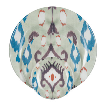 Ikat Teal & Purple Tableware