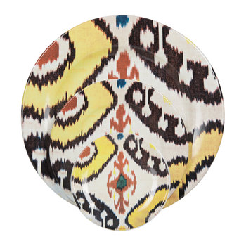 Ikat Yellow & Red Tableware