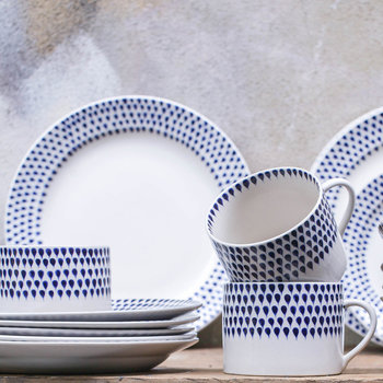Indigo Drop Tableware