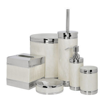 Ivory & Nickel Bathroom Accessory Set