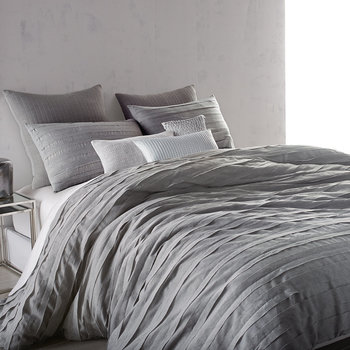 Loft Stripe Bed Linen Collection - Grey