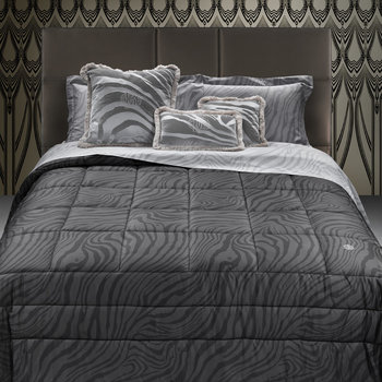 Macro Zebrage Bed Linen - Grey