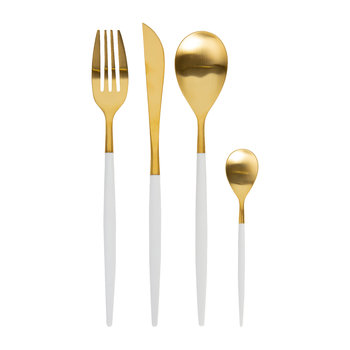 Mio White Gold Flatware