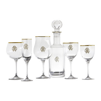 Monogram Gold Glassware