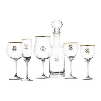 Articles en Verre Monogramme Or