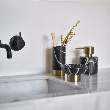 Nero Bathroom Accessory Set - Black