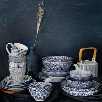 Nippon Blue Tea Set
