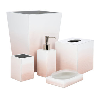 Omber Bathroom Accessory Set - Pink/Silver