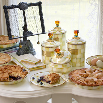 Parchment Check Tableware